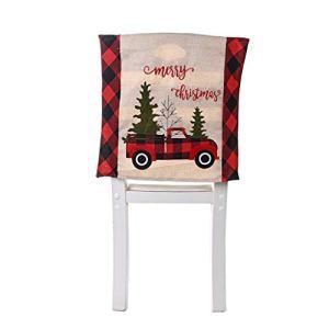 XuHang Housse de chaise de salle à manger ou de cuisine Motif Père Noël