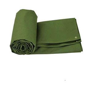 XWZH Feuille de bâche Universelle Grande Bâche extérieure épaissie Poncho crème Solaire Tarp Camion Couverture Cargo Sunscreen Toile Tarp Tarp Raincloth Car Cover Tissu (Color : Green, Size : 3x4m)