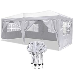 YUEBO Tonnelle Pliante imperméable 3×6 m Barnum Pliant Gazebo Tonnelle Pliable Tent Pliante Chapiteau de Reception pour Jardin,fête
