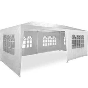 ADHW Tonnelle pavillon 3x6m 6 Couleurs – Barnum Tente de Jardin réception Tente fête (Color : Blanc (Protection UV))
