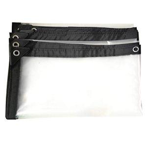 Auvent en Plastique Transparent résistant de fenêtre de Balcon de Tente de bâche imperméable de bâche, Taille Personnalisable (Color : Clear, Size : 4X8M)