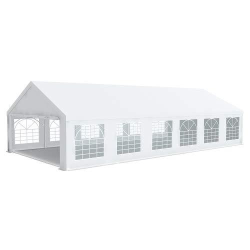 Interouge Chapiteau Tente de réception 6x12m Premium Plus PVC 500g/m² Tubes 50mm Haut. 2m20