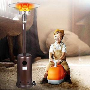 Parasol Chauffant Commercial Acier Inoxydable et Noir Parasol Chauffant Infrarouge Mars – Chauffage électrique de terrasse à Halogène, Réglable – Radiateur Jardin/Patio/Terrasse/Intérieur (New)