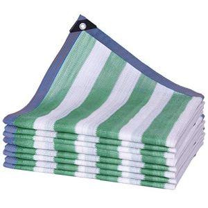 WXQIANG Filet d'ombrage en polyéthylène anti-UV, résistant aux déchirures, taille personnalisable, isolation thermique, (couleur : vert, taille : 3 x 4 m)