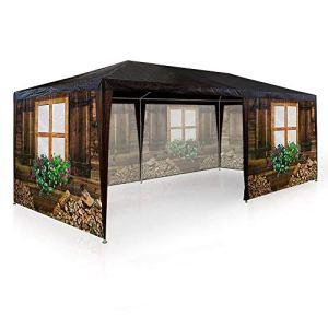 ADHW Chapiteau De Fête Design Chalets en Bois Montagne 6x3m Tente Tonnelle Pavillon