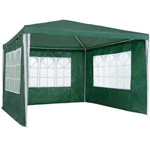 ADHW Tonnelle de Jardin Barnum auvent chapiteau Tente pavillon de Jardin 3×3 m (Color : Vert)