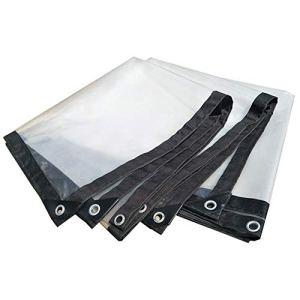 Bâche en Plastique épaississante Transparente imperméable résistante de Tente de bâche, Taille Personnalisable (Color : Clear, Size : 5X10M)