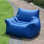 Beanbags Perfect Lounge Canapé gonflable portable résistant à l'eau et aux intempéries en tissu pliable transformable avec dossier haut en nylon pour une utilisation intérieure ou extérieure, L