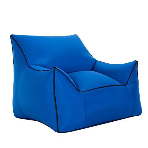 Beanbags Perfect Lounge Canapé gonflable portable résistant à l'eau et aux intempéries en tissu pliable transformable avec dossier haut en nylon pour une utilisation intérieure ou extérieure, S