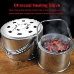 Brasero charbon de bois poêle poêle ménage extérieur poêle carbone poêle d'extraction manuelle poêle extérieur chauffage carbone poêle S