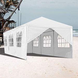 DNNAL 3X9m Pavillon, Pavillon de Jardin étanche Stable Tente de réception Bâche Party Garden Festival