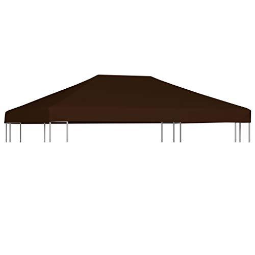 FAMIROSA Toile supérieure de Gazebo 310 g/m² 3×4 m Marron