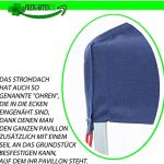 freigarten.de Toit de rechange pour tonnelle 3 x 4 m imperméable Matériau : Panama PCV Soft 370 g/m² Modèle 5 (bleu marine)