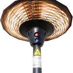 GREADEN Parasol Chauffant Infrarouge CÉRÈS – Chauffage électrique de terrasse à Halogène 2100W, Extérieur IP44, Réglable – Radiateur Jardin/Patio/Terrasse/Intérieur EU plug