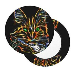 Housses de tabouret de bar rondes de 30,5 à 35,6 cm avec cercles colorés, housse de chaise lavable en mousse à mémoire de forme rembourrée avec dos antidérapant et bande élastique
