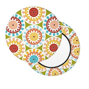 Housses de tabouret de bar rondes de 30,5 à 35,6 cm avec motif arbre lumineux de rue, housse de chaise lavable en mousse à mémoire de forme rembourrée avec dos antidérapant et bande élastique