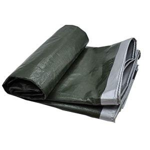 HQQSC Tarpauline imperméable, PVC Lumière Crammine cramponnée Toile de Crampon de carport en Plein air Tarpaulin de Jardin de pêche hamac de Pluie Tentes (Color : 3X6M)