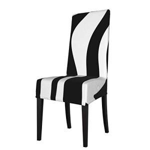 Lilyo-ltd Housse de chaise de salle à manger Zebra amovible lavable en élasthanne doux housse de chaise de banquet housse de protection pour chaise de cuisine, maison, hôtel