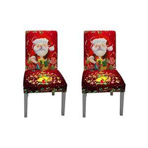 winnerruby 2ST Housse de Chaise à Impression numérique avec élastique Moderne