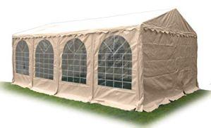 Ambisphere Classic Plus Tonnelle de Jardin en PVC 550 g/m² imperméable et résistant aux UV et Ignifuge Diverse Tailles en Blanc et Beige 6x12m Beige