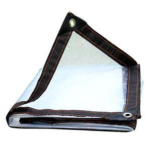 Bâche Anti-Pluie Transparente d'isolation imperméable imperméable de bâche extérieure, Personnalisation (Color : Clear, Size : 3X6M)