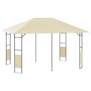 E E-NICES Belvédère de Jardin 4×3 m Crème 160 g/m²