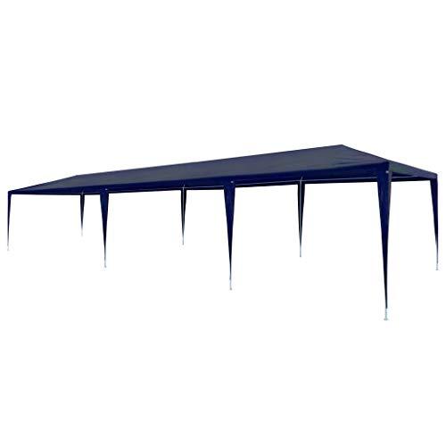 E E-NICES Tente de réception 3 x 9 m PE Bleu