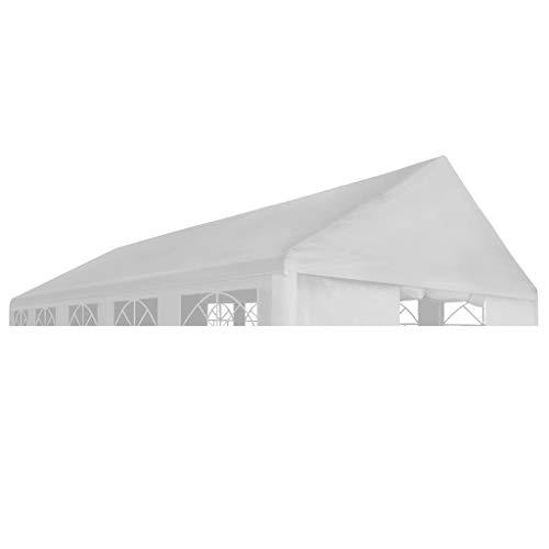 E E-NICES Toit de Tente de réception 6 x 12 m Blanc