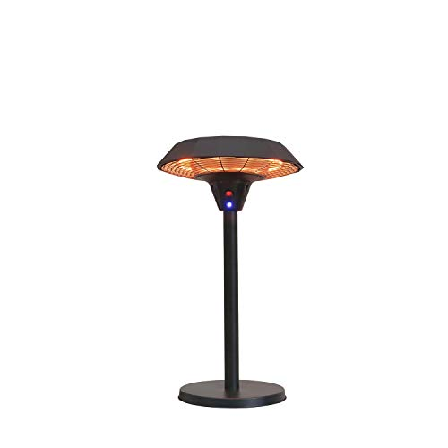 GREADEN – Chauffage de Table Infrarouge Mercury Parasol Chauffant Mobile et Esthétique Radiateur électrique de terrasse à Halogène 2100 W- Extérieur IP44 (Chauffage Seul RT8)