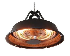 MaxxGarden – Parasol chauffant de terrasse suspendu – radiateur infrarouge – couleur noir – 1500 W