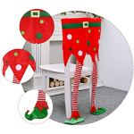 PRETYZOOM – Housse de chaise décorative pour Noël – Motif elfe – Décoration de fête