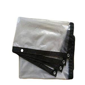 TRITTHOCKER Film en Plastique PE, 120 g/m², polyéthylène de bâche extérieure, résistance à la déchirure, adaptée au Toit/au Camping/Patio,3×6