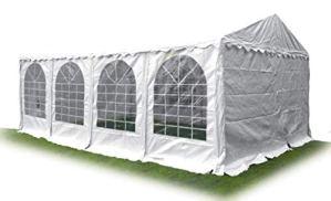 Ambisphere Tente de fête Haute qualité en PVC 550 g/m² Tente de Jardin/Tente de bière étanche résistant aux UV et Anti-feu Plusieurs Tailles Disponibles Blanc 5x10m Weiß