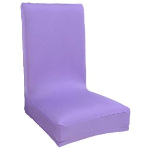 Demarkt Housse de chaise Housse de chaise 95 % polyester et 5 % élasthanne Violet clair, violet/transparent, Medium
