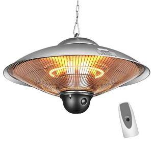 LOVEHOUGE Parasol chauffant – Chauffage infrarouge électrique – Avec télécommande – Étanche IP44