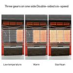 LTINN Deluxe 2000pa / 2800p Métal Extérieur à Jardin Balcon Feu BBQ Brasero Gril Gaz Chauffe Terrasse Gratuit Debout Panneau Anti-Corrosion de pulvérisation (Rouge)