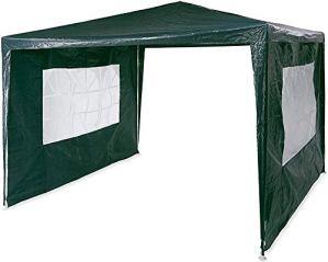 Pavillon pop-up 3×3 m, 2 mur latéraux, cadre en métal pour tente pliante de jardin,Green