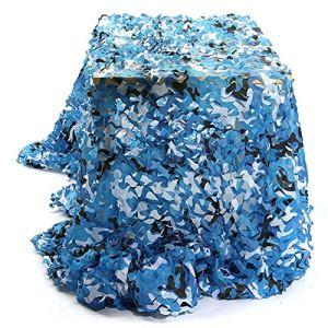 QI-CHE-YI Net de Camouflage, utilisé pour l'auvent de Jardin, la pergola extérieure, Le belvédère, Le Filet de Camouflage Bleu Marin,3x4m