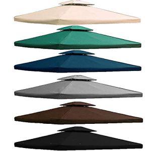 freigarten.de Toit de rechange pour tonnelle 3 x 4 m – Étanche – Matériau : PVC doux Panama 370 g/m² – Modèle 5 (anthracite)