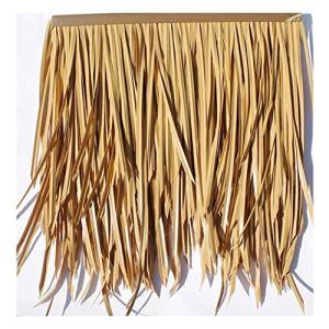 LYRZJJ Simulation de tuile de chaume, Cheveux artificiels, Paille de gouttière, Plastique Ignifuge, Paille de Ferme, décoration de Toit de Gazebo, Fausse Paille, 2pcs (Couleur : Jaune A)
