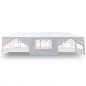 SUFUBAI Auvent de jardin imperméable pour fête de mariage, camping – 3 x 9 m