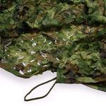 Voile D'ombrage Filet de,toile de camouflage ombrage renforce abris de campingpare vent exterieur,pour Le Camping, la décoration de Toile de Fond, l'ombre, la Chas(Size:3x6m/9.84×19.68ft,Color:Jungle)
