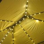 BRAST Tonnelle de jardin 3×4 avec LED BREEZE 2,7 H beige , étanche/ imperméable, très stable, 100% acier thermolaqué – pavillon de jardin 3x4m