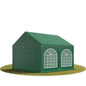 TOOLPORT Tente Barnum de Réception 3×4 m Bâches PVC env. 500g/m² Vert Cadre de Sol Jardin