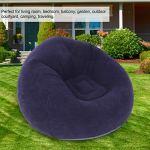 YOPOTIKA Canapé gonflable unique floqué sphérique – Chaise pour dortoir, chambre, extérieur, voyage, camping, pique-nique