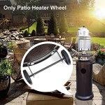AUTUUCKEE Ensemble de roues universelles pour chauffage de terrasse – Roue mobile de rechange pour parasol chauffant à gaz – Taille unique – Noir