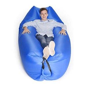 FANGPAN Camping Plage canapé Gonflable Paresseux Sac Portable Ultra-léger Chaise de Parc Voyage randonnée Sacs de Couchage Musique Festival Repos lit d'air