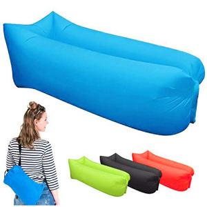 FANGPAN Rapide canapé Gonflable Paresseux Sac de Couchage Sac de Couchage 200 * 70 cm Camping Portable Air Banane canapé Plage lit air
