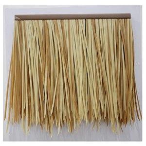 Faux chaume de palmier en paille artificielle tuile de simulation de chaume Faux chaume de laine PE plastique alliage d'aluminium toit gouttière plafond décoration Palm Thatch RollSize : 10pcs