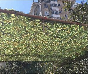 KEANCH Anti-UV Net Pare-Soleil Net, Netting à l'ombre, Maille du Soleil, Armée De Camouflage, Armée De Camouflage, Terrasse De Jardin Balcon Pergola Sunshade Chasse Blind(Size:3x4m)
